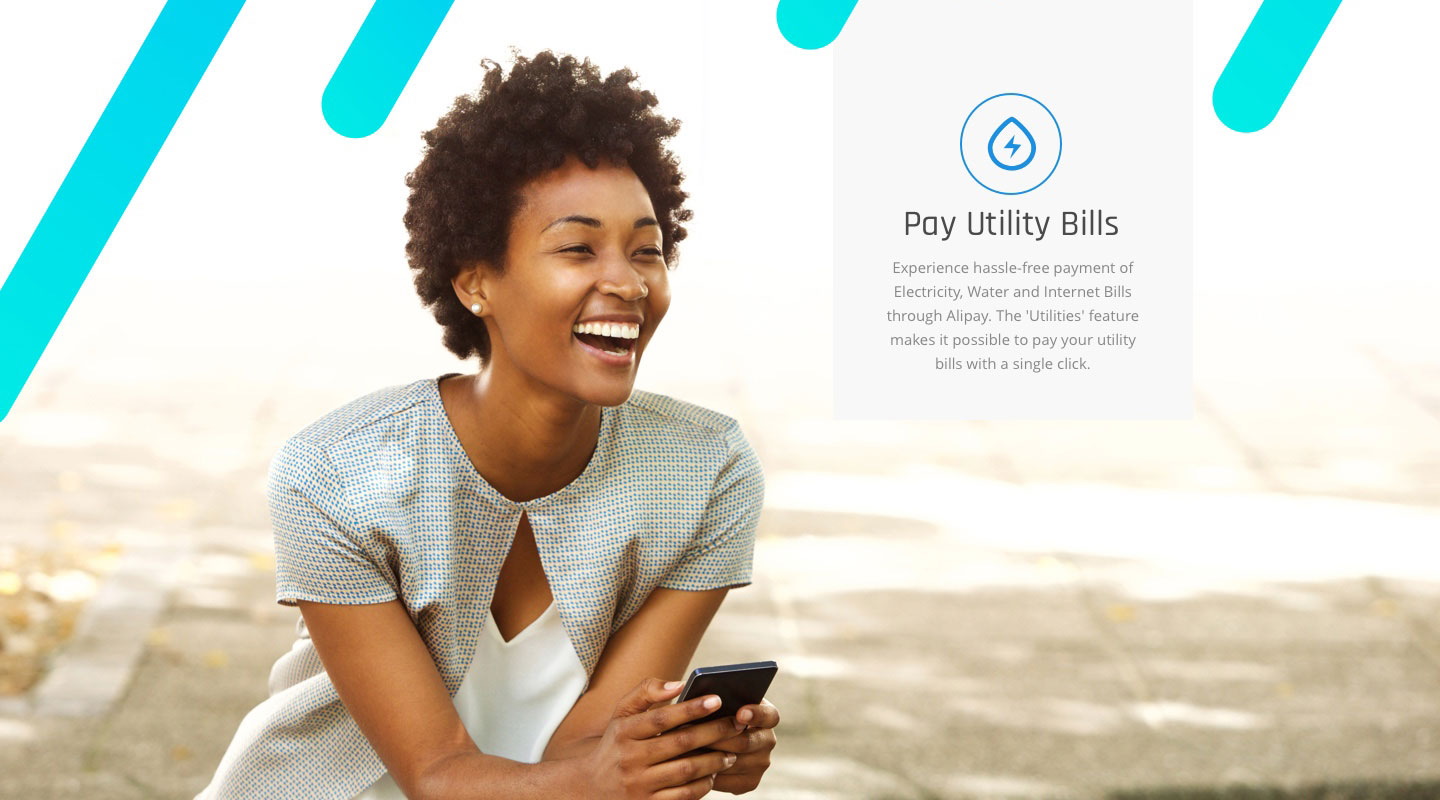 Pay Utility Bills | Experience hassle-free payment of Electricity, Water and Internet Bills through Alipay. The 'Utilities' feature makes it possible to pay your utility bills with a single click.